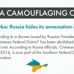 Nice try hiding your theft, @Russia. But there will be justice for annexation and peoples losses #CrimeaIsUkraine https://t.co/cheSZp29WR