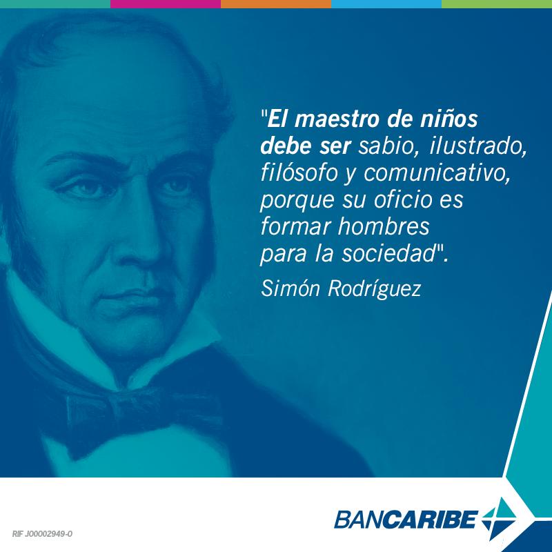 Simón Rodríguez fue un educador, escritor y filósofo venezolano. Visionario defensor de la educación pública. https://t.co/h2JrkhFWAg