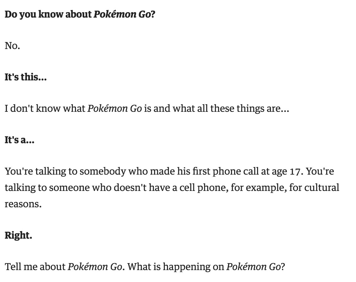 Werner Herzog on Pokémon Go is exactly what you think it would be. https://t.co/nkFiqN63T7