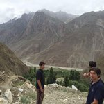 Shigar Valley. @ImranKhanPTI with sons. https://t.co/FXoPy97FIg
