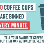 5,000 coffee cups are binned EVERY MINUTE. We want cups that can be recycled NOW #wastenot https://t.co/sQpp653q88