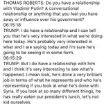 NEW: @realDonaldTrump to @ThomasARoberts in 2013: I do have a relationship with Putin https://t.co/GZtimmP5Q5 https://t.co/2QkUJTmwXz