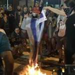Disappointing to see protesters burning USA flags outside @DemConvention & delegates waving Palestinian flags inside https://t.co/Lbox83Slfe