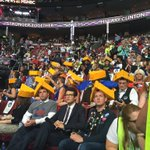 Wisconsin delegation not afraid to don some cheesy hats on the last night of the convention #DemsInPhilly https://t.co/h04ddzVqhQ