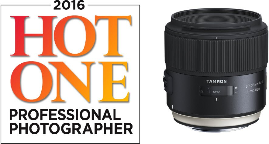 """Tamron's SP 35MM F/1.8 DI VC USD has been honored as of one the featured selections in @PPMagazine """"2016 Hot Ones!"""" https://t.co/ZG2o4O7EIO"""