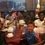 Fun night with the RBs and my son @MissSweetsBBQ! #WhereisBuddy! #FindAWay2016 https://t.co/lvihGMCOkn