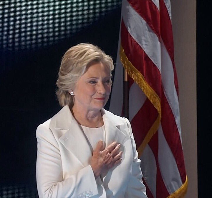 Look around, look around at how lucky we are to be alive right now. History is happening. #DemsInPhilly #ImWithHer https://t.co/vprPyRuLl8
