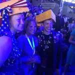 "National attention continues for the @WisDems delegation. ""Cheesehead"" delegates being interviewed by @katiecouric https://t.co/9h7Q5b6c3L"