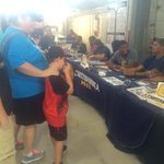 Fans enjoying the free autographs from @GoMocsFB team here @ChattLookouts game! #CheerLocal #GoMocs https://t.co/bCB7avhrVq