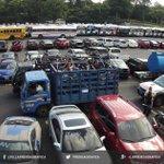 Vista de autos incautados por autoridades salvadoreñas a una pandilla. Foto B. Mármol #OperacionJaque #ElSalvador https://t.co/0QFJEwfh6y