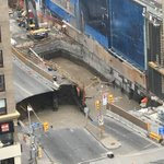 Work resumes this wknd on light rail tunnel under #Rideau St. after sinkhole formed June 8th. #ottnews https://t.co/vDQ43XeqOG