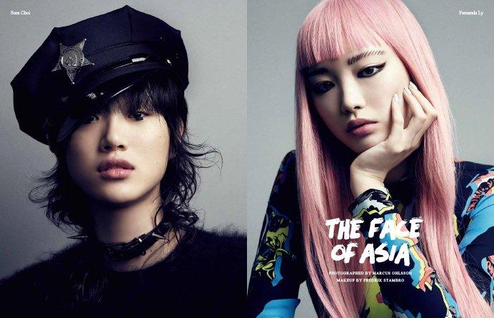"""派手な髪色だって、ファニーなメイクだって、トゥーマッチにならずに""""様""""になる。 アジア人モデルのパワ…"""