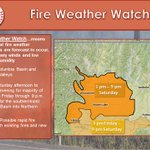 A Fire Weather Watch will be in effect for our area on Saturday. Dry and breezy conditions expected #wawx #idwx https://t.co/4uGHIPx4dL