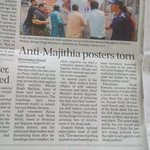 Akali-bjp cant digest people f Pb standing with AAP, torn posters showing solidarity with @ArvindKejriwal & AAP https://t.co/EUlOl9ZUtg