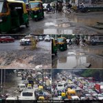 #InPics: #Bengaluru crippled by heavy rain and massive traffic jams #BengaluruRains Read: https://t.co/5MWxqElWHK https://t.co/ehXxYwWL14
