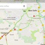 Yes @mlkhattar, Delhi CM @ArvindKejriwal is responsible for #Gurugram jaam... quite evident in the traffic map 😂 https://t.co/H9nXSnOht7