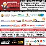 #Lampung ayo cr #kerja 3-4 Agustus16 di Aula Museum Lampung Info D177D56C atau 087784301693 @garudaorganizer https://t.co/mcDSBy6KBe
