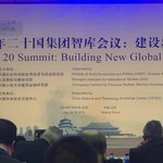 President Chen Dongxiao (SIIS) at Beijing T20 Summit; key partner of #T20Germany #MGGnetwork @DIE_GDI @DirkMessner https://t.co/Bwc7buSwIg