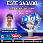 Un invitado muy especial en la final mensual d #LaTosMéxico @mariobautista_ como el padrino d lujo #LuchaDeCuartetos https://t.co/x9ayA6hCvn