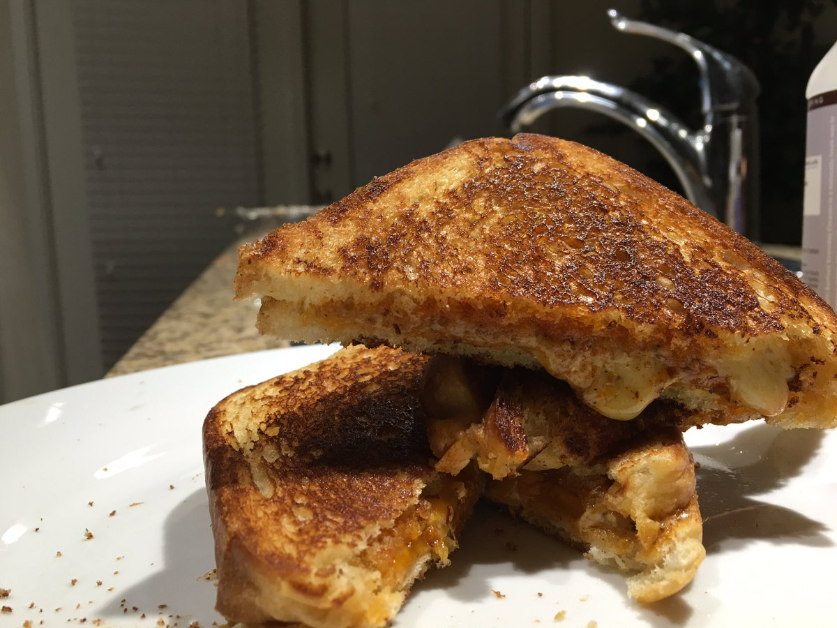 Made an grilled cheese. Thinking of starting an online cooking show ? #MarylandMunchies