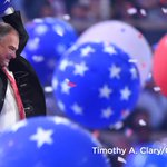 The #DemsInPhilly balloon drop did not disappoint Democratic vice presidential nominee Tim Kaine. https://t.co/a3eDZcCrRj