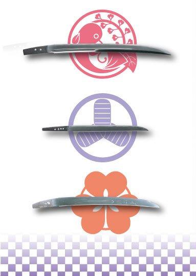 柔らかな和紙調の質感が引き立つA5サイズのクリアファイルです。刀剣男士3振と葵紋、刀剣3振と刀剣男士…