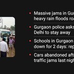 Latest updates: Gurgaon traffic freezes city, after heavy rainfall https://t.co/8E1mxxZFsx https://t.co/1TglQbeWhT
