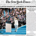 The top of the front page of The New York Times for July 29, 2016 https://t.co/M6UVfJMWBQ