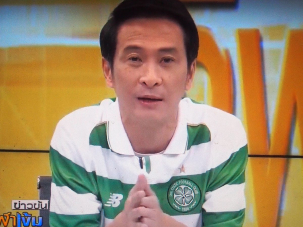 This morning a Thai newsreader was wearing a Celtic top on @NationTV22. Thailand's green & white! https://t.co/NaFpd8GzHp