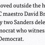 So apparently David Brock had to run away from Sanders delegates. https://t.co/ZYir9YEBFG https://t.co/wKAv4UF6UL