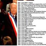 Lagos dice que Chile pasa por crisis política. Pero omite que él es uno de sus causantes. Acá parte de su prontuario https://t.co/rj2mFEX6jv