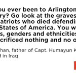 Khizr Khan, the father of an American Muslim captain killed in Iraq, had a message for Trump #DemsInPhilly https://t.co/Pva8Khrgre
