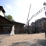 Pope Francis visits Auschwitz-Birkenau this morning, becoming the third pope to visit the infamous death camp. (AFP) https://t.co/Fm2j4uZsz7