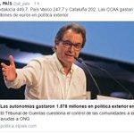 Andalucía gasta más del doble que Catalunya en política exterior pero ilustran la noticia con una foto de Artur Mas? https://t.co/JLW8hYh6P8