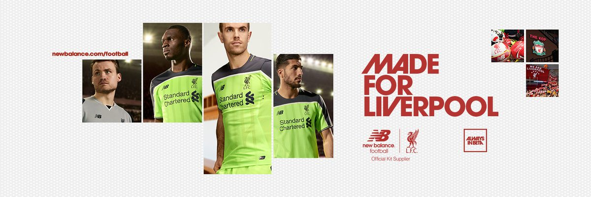 The new @NBFootball 'toxic thunder' @LFC 2016/17 third kit is here. Shop it in store/online https://t.co/5bij0OQ5p9 https://t.co/DltY3HunAY
