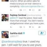 "Barkha to Rajdeep ""Your Ink hasnt run dry yet, I know that"" 😂😂😂 #ArnabSpeaks https://t.co/71GPJgkj3E"