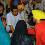 @ArvindKejriwal with the affected Dalit family at Jalalabad.. https://t.co/qjyolsgMEn