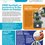 Our #Luton BID summer newsletter has been delivered to town ct businesses. Download yours https://t.co/Aks974KZLp https://t.co/62ogd3pIeA