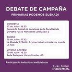 Acèrcate a nuestra sede para seguir en directo el debate de campaña. Hoy viernes a partir de las 18:30.Te esperamos! https://t.co/ATelfogyOu