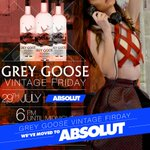 ATTENTION EVERYONE. Grey Goose Vintage Friday HAS MOVED NEXT DOOR TO MASA ABSOLUT. #GGVF https://t.co/98Sw2afMIk