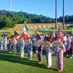 Nuestra bandera tricolor 🇵🇦ondeando en lo alto de la ceremonia de inauguración del Mundial de Béisbol. #U15WorldCup https://t.co/s725YVP1on