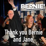 Thank you, @SenSanders & @janeosanders. Now, we move on to Phase Two of our Revolution! #FeelTheBern #FridayFeeling https://t.co/3GiS7ZxjDI