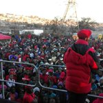 CIC @Julius_S_Malema addressing in Alexandra, Johannesburg this afternoon #EFFWayaWaya https://t.co/Ha25rS6Ffx