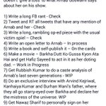 Its otherway round Arnab is not giving any toss which is making @BDUTT very frustrated 😂😂 Fb post by @ShefVaidya https://t.co/TBmTVk2phZ