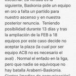 Para los que queréis informaros realmente . Aquí tenéis la realidad de Araberri-Baskonia https://t.co/wcjXHTaTsk