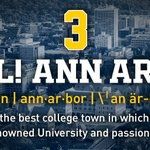 We live in the BEST college town in America. #1️⃣  #GoBlue #HAILMichigan https://t.co/gTqvGmQHaB