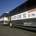 Clinton Kaine bus trip begins today. A shot from the memorable one in 1992! https://t.co/HDkYpRtjWi