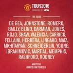 Man Utd announce their 23-man squad for their friendly with Galatasaray. (via @ManUtd) https://t.co/0P1Kz6xPnO