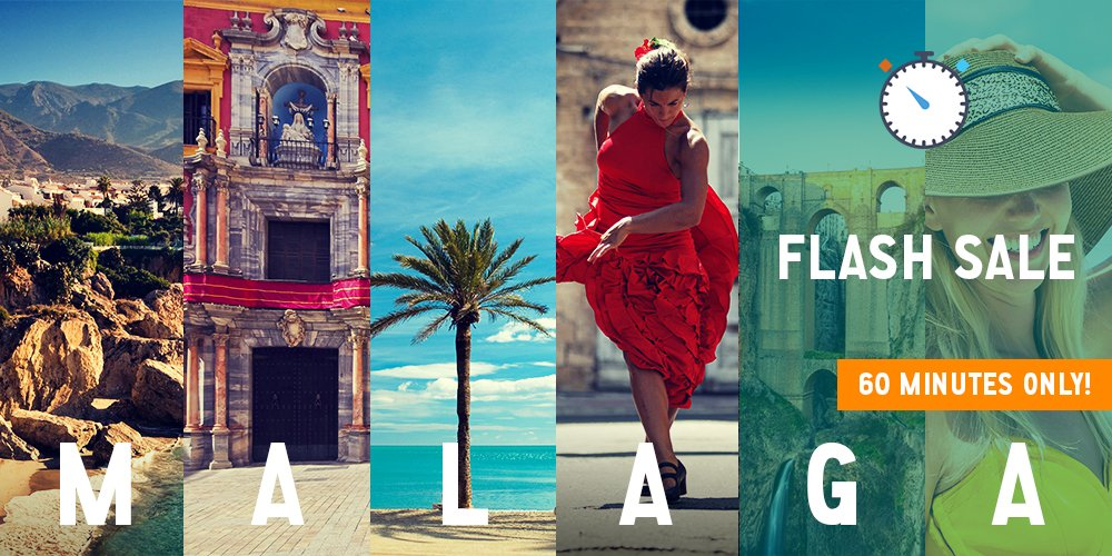 ⏳ For the next 60 MINUTES get €141 round-trip fares from Dublin to Malaga! Fly 9-31 August