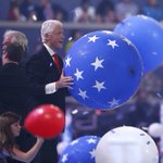 Nothing will ever be better than @billclinton communing with balloons. NOTHING, Internet. #DemsInPhilly https://t.co/T9DFwiXasV
